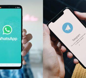 Diferenças entre o whatsapp e o telegram